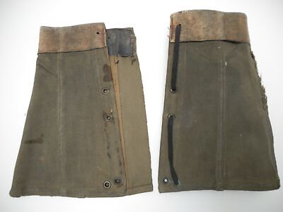 Spats, Gaiters, Puttees – Vintage Shoes Covers Antique Vintage Pair WWII Canvas Shin Guards Gaiters Spats Leggings Military $9.95 AT vintagedancer.com