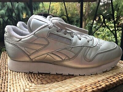 Rebook Classic Trainers Freestyle HI Face Stockholm Size 7 Silver