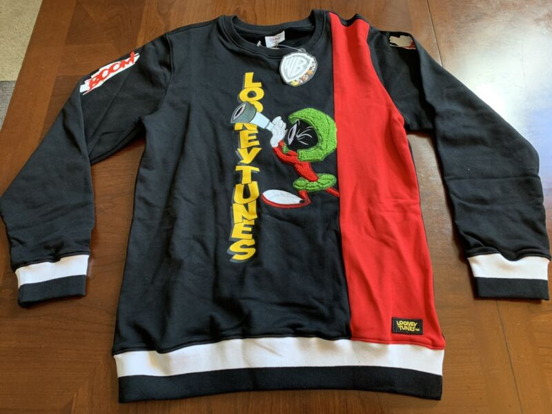 Looney Tunes AUTHENTIC Marvin The Martian Sweater YOUTH Size XL RARE