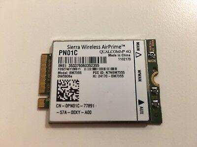 Dell Siera Wireless AirPrime EM7355 4G LTE WWAN Card Mini PCI-E DW5808e PN01C