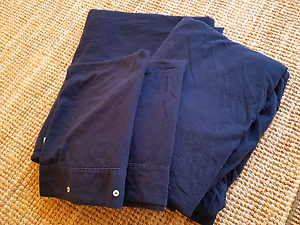 Navy blue flannelette sheets, full double size bed Mosman Mosman Area Preview