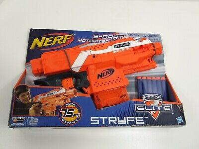 Nerf Stryfe orange motorized dart blaster Hasbro 2013 C-022G new in package