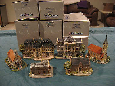 Vintage GOEBEL Hummel Little Bavaria InTheFootsteps 6 Houses Signed 1988 lot NEW