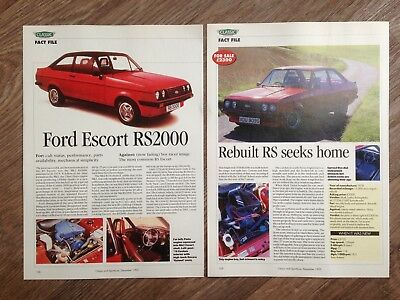 FORD ESCORT RS2000 - Buying Guide Article - Classic & Sportscar Magazine 1995