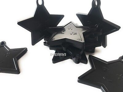 Black Star Balloon Weights for Helium Balloons - Pack Size Options](Black Balloon Weights)
