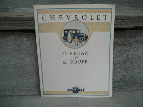 1925 Chevrolet Sedan and Coupe Foldout Brochure