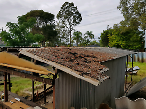 Asbestos fence shed/roof removal.
