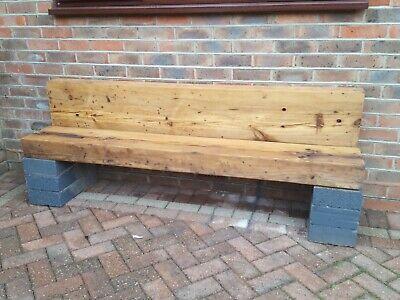 2 Timber Railway Sleeper Heavy Duty bench 182x30x12 cm