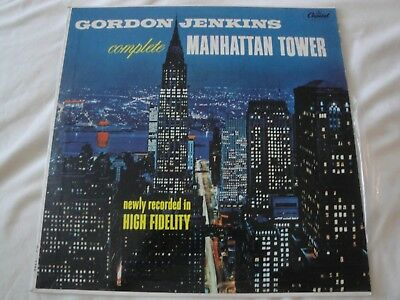 - MANHATTAN TOWER GORDON JENKINS COMPLETE VINYL LP ALBUM 1956 CAPITOL RECORDS MONO