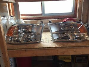 Dodge 3500 headlights buckets