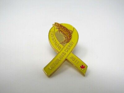 Veterans Derby Canada Day 2011 Ribbon Pin Yellow