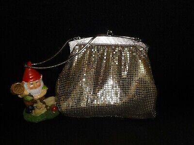 1950s Handbags, Purses, and Evening Bag Styles Vintage 1950's Whiting & Davis Silvertone Mesh Bag / Evening, Formal $16.00 AT vintagedancer.com