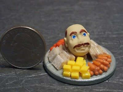 Dollhouse Miniature Halloween Head on Cheese Veggie Tray 1:12 one inch scale - Halloween Veggie Trays