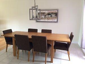 GRANDE TABLE DE CUISINE  EN BOIS STYLE SCANDINAVE