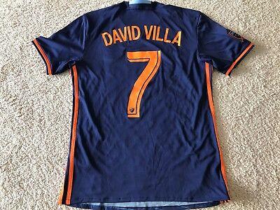 2016/17 New York City FC adidas away jersey mens SMALL David Villa NYCFC - Adidas David Villa