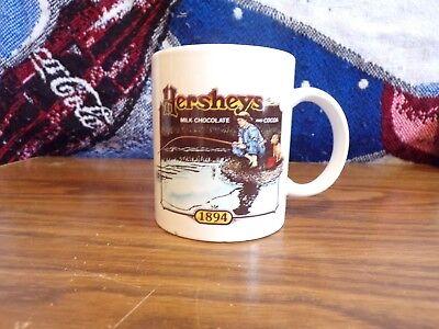 Hersheys Milk Chocolate Cocoa 1894 Mug Coffee Tea Cup Boy Dog Fishing A0000