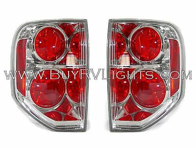 TIFFIN PHAETON 2011 2012 2013 PAIR CHROME TAIL LAMPS TAILLIGHTS REAR RV