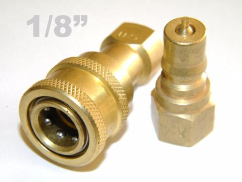 """Carpet Cleaning 1/8"""" Brass Plug & Socket Quick Disconnect"""