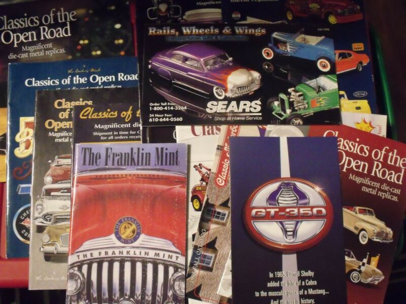 Franklin Mint, Danbury Mint Catalogues, Lot, Various Vehicles Depicted, 14 issue