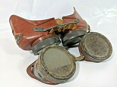 Vintage Lot Of Welding Car Motorcycle Steampunk Safety Goggles Glendale Optical