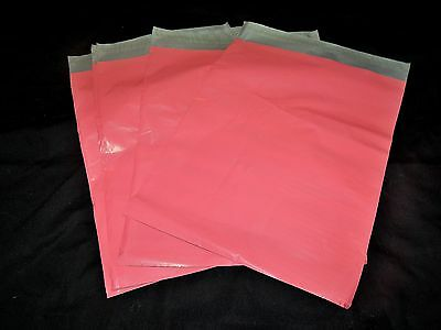 100 12x15.5 Pink Poly Mailers Envelopes Shipping Plastic Mailing Bags 12x15