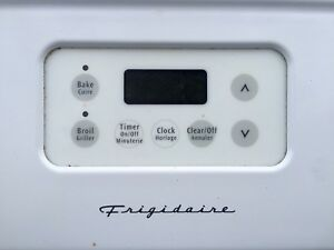 White Frigidaire glass top electric range oven
