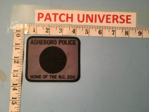 ASHEBORO NC POLICE HOME OF THE NC ZOO  SHOULDER PATCH  N099