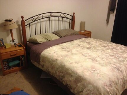 Queen Bed Frame+ Matching Bedside Tables