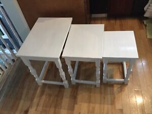 White nesting tables- available