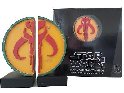 STAR WARS MANDALORIAN SYMBOL BOOKENDS GENTLE GIANT 627/3000