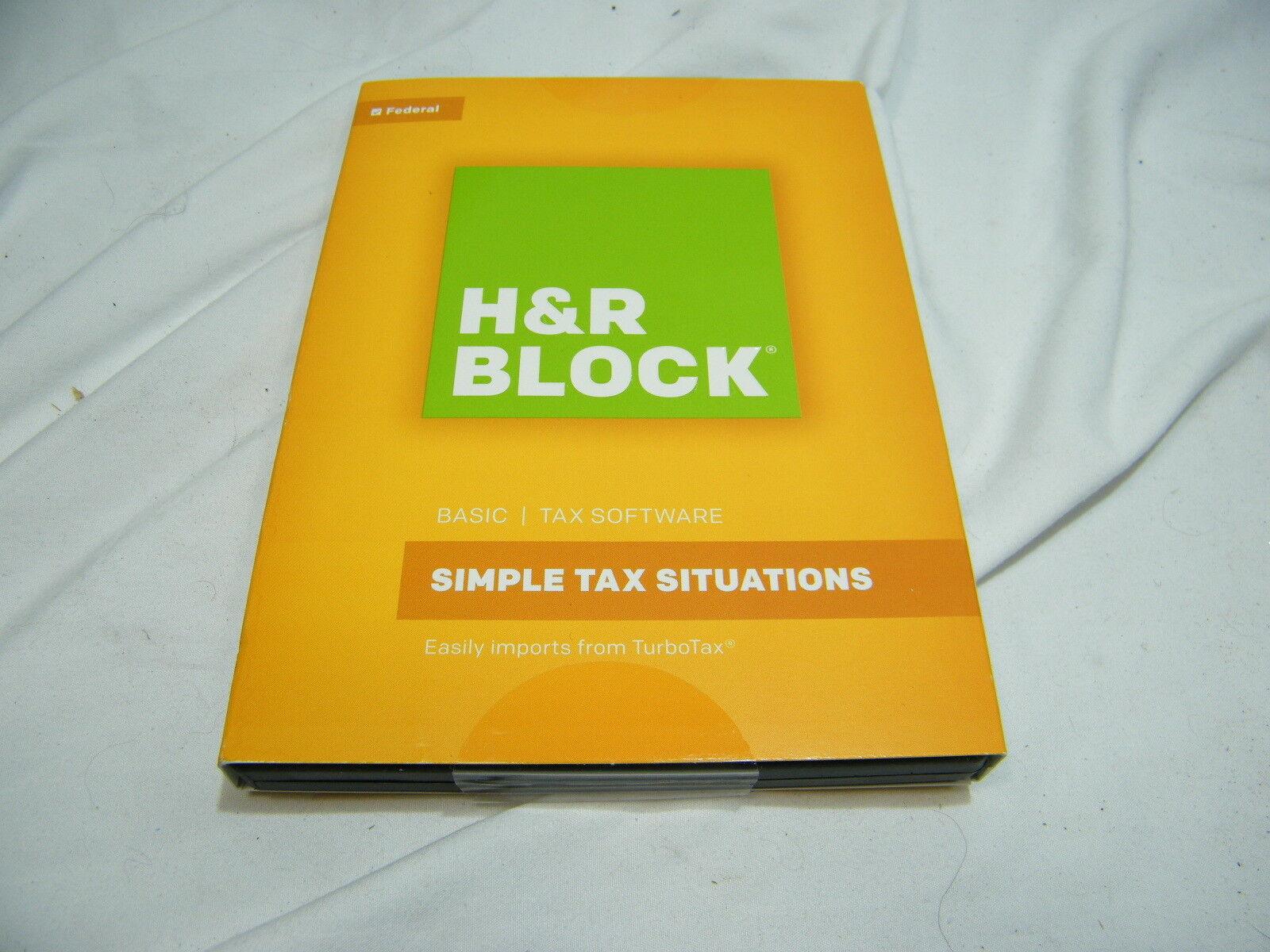 H&R Block Basic Federal Tax Software : Simple Tax Situations : 2016 : PC/Mac NIB