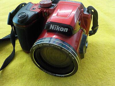 Nikon COOLPIX B500 16MP Digital Camera w/ 40x Optical Zoom Lens - Red