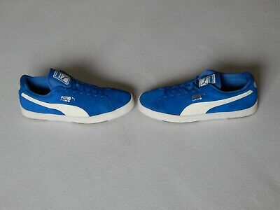 PUMA SUEDE S MENS BLUE SUEDE SHOES TRAINERS UK 11 ,EU 46