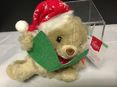 Holiday Story Telling Bear Plush Doll Plays Twas The Night Before Christmas ()