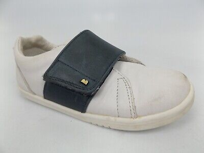 Bobux White Navy Leather Shoes Toddler SZ EU 26 ''US 9.5 T M'', PRE OWNED, 1368