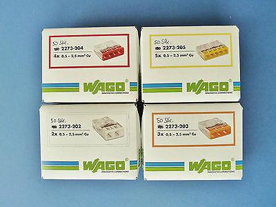 Wago 2273, Wagoklemmen Set   2273-202/203/204/205 je 50Stück
