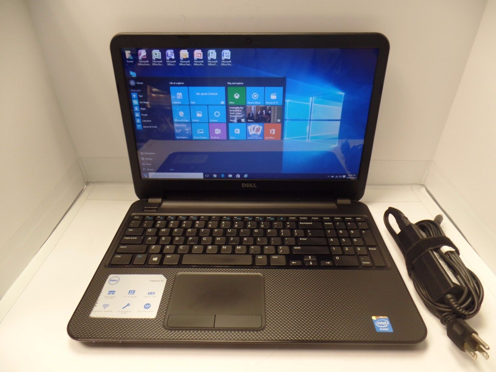 Dell Inspiron 15 3537 Intel Celeron 1.40GHz 8GB 320GB Laptop Win10 Office 2007