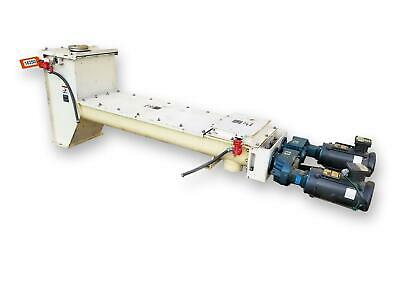 6 Dia. X 6-8 Long Surplus Unused Twin Screw Dual Feeder Auger Conveyor