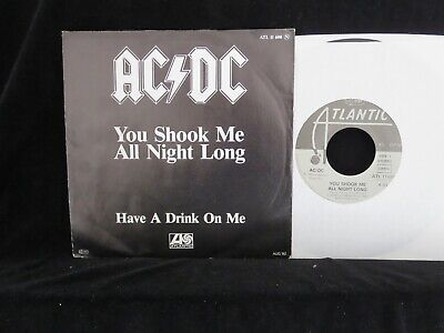 AC/DC, You Shook Me All Night Long GERMAN rare mispelt Picture Sleeve 45 single ()