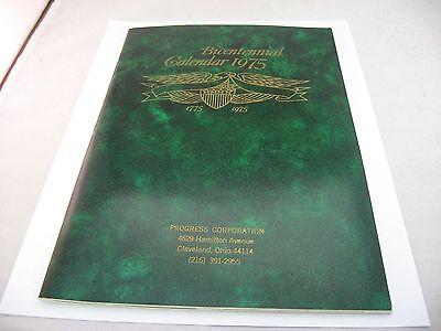 Vintage 1975 Bicentennial Calendar Progress Corp  Cleveland Ohio By Myron Mnf