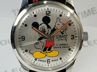 Vintage Camy Mickey Mouse Dial Mechanical Handwinding Wrist Watch VG205