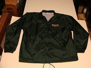 Ballys Atlantic City Casino Jacket Coat Mens RARE USA Shiny Lined