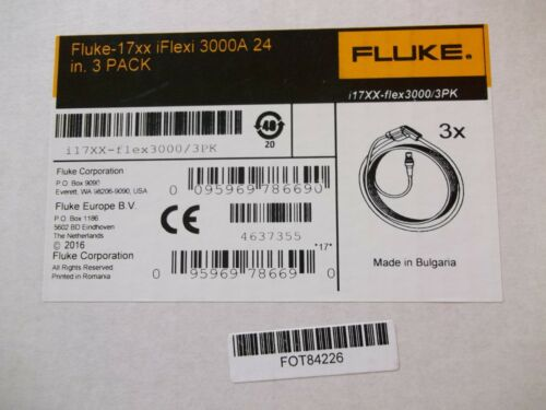 Fluke-17XX iFlexi 3000 AC Current clamp 24 in. 3-pack NEW