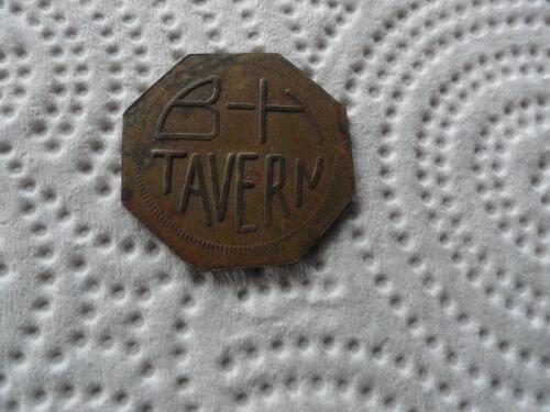Old Brass B-H Tavern Token
