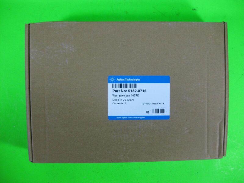 Agilent Vial, Screw Cap 100/Pack -- 5182-0716 -- New