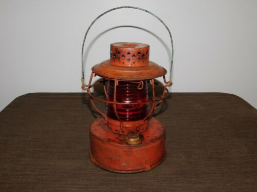 "VINTAGE 9"" HIGH HANDLAN ST LOUIS USA CONSOLIDATED EDISON RAILROAD LANTERN"