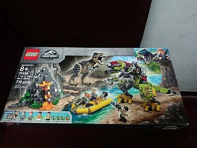 Lego Jurassic World T. rex vs Dino-Mech Battle Building Toy Set 716pcs 75938
