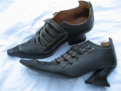 John Fluevog 'Swordfish' Women's Gothic Witch Buckle Shoes -- UK 4/US 6