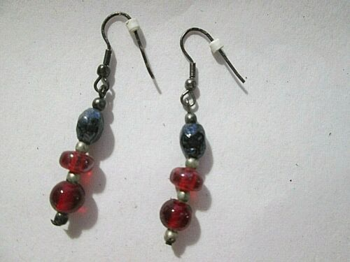 """Red Colors Dangle earrings, about 1.5"""" Length~ Go with lots of things"""
