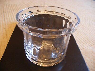 DARTINGTON SHUGGY BAR ICE BUCKET CLEAR CRYSTAL GLASS RIPPLE FRANK THROWER